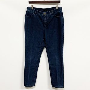 Lafayette 148 | Dark Wash High Rise Cropped Jeans